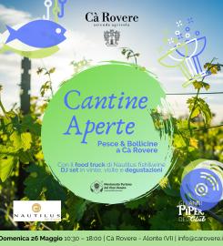 Cantine Aperte 2019 Pesce & Bollicine a Cà Rovere